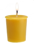 100% Beeswax Votive Candle