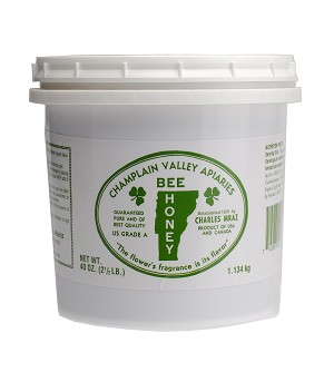 2.5 lb. Plastic Pail of Liquid Honey